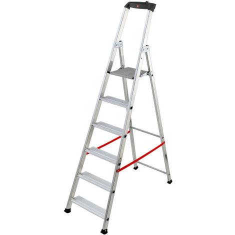 HAILO 8847-011 - Escalera de tijera profesional Alu PRO (7 peldaños)