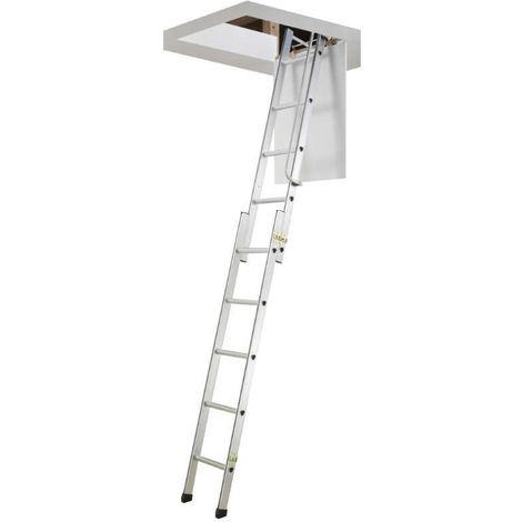 HAILO 9343-001 - Escalera escamoteable 2x5 (46x56x125)