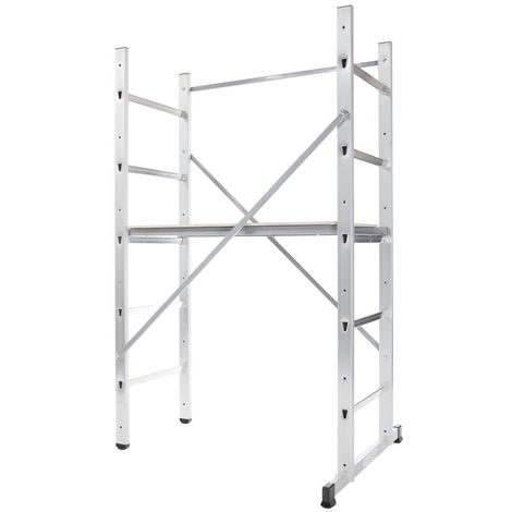 HAILO 9473-311 - Andamio de aluminio Hobby 3 (altura máxima de trabajo 3 m)