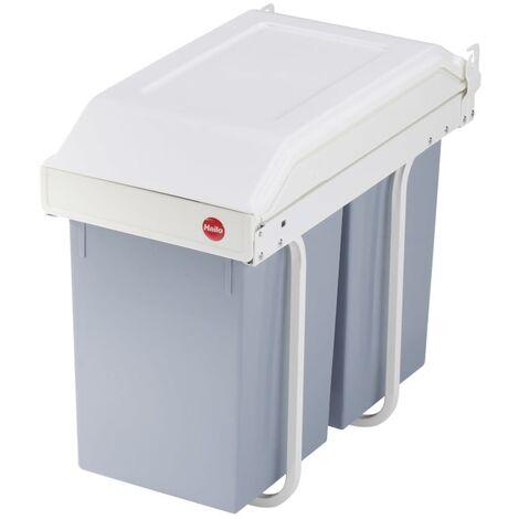 Hailo Cupboard Bin Multi-Box Duo Size L 2x14 L Cream 3659-001 - Cream