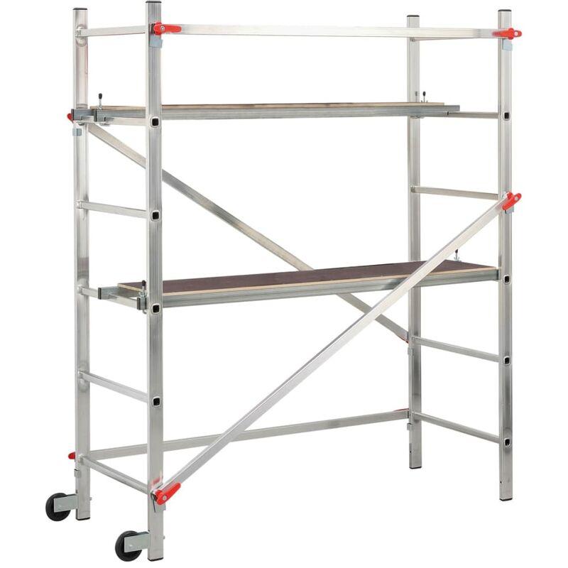 Hailo Échafaudage Plateforme de Travail  1-2-3 300 180 cm Aluminium 9459-301