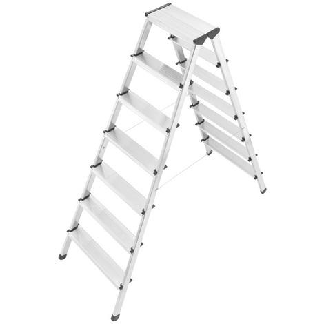 HAILO Escabeau double 2x5 marches idéal pour les peintres