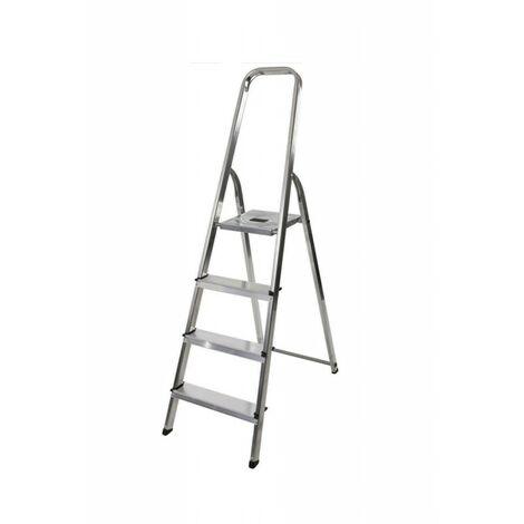 Hailo - Escalera de mano para bricolaje 4 escalones Altura de acceso 259 cm - Selekta MixAlu
