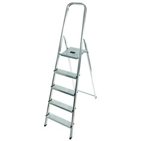 Hailo - Escalera de mano para bricolaje 5 escalones Altura de acceso 281 cm - Selekta MixAlu