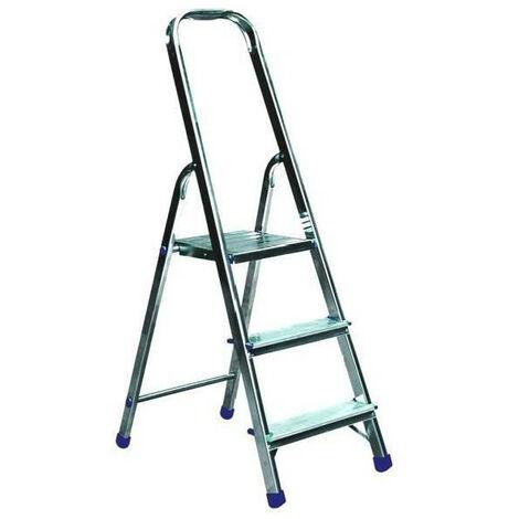 Hailo - Escalera de mano para bricolaje con 3 escalones y 235 cm de altura de acceso - Selekta MixAlu