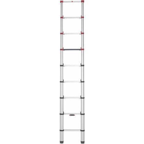 Hailo - Escalera telescópica de 13 escalones Altura de trabajo 4,50m - FlexiLine