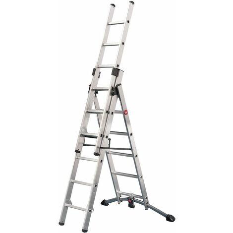 Hailo ProfiStep® Combi - Escalera 3 tramos combinada aluminio