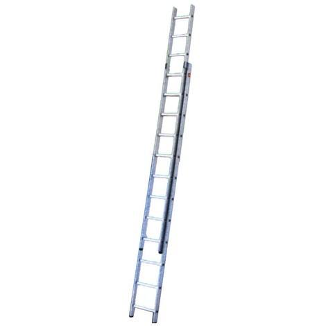 Hailo ProfiStep-Duo 2 x 15 pelda/ños Escalera industrial 2 tramos de aluminio