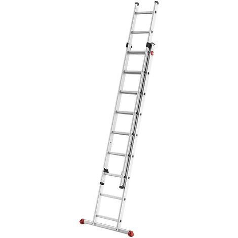 Hailo ProfiStep® duo - Escalera corredera 2 tramos aluminio