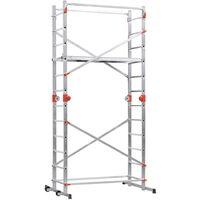 Hailo Scaffold and Ladder 1-2-3 500 Combi 324 cm Aluminium 9459-501