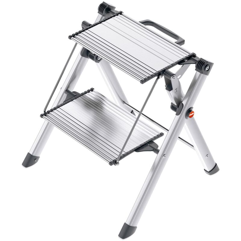 Image of Stepladder with 2 Steps Mini Comfort 45 cm Aluminium 4310-100 - Hailo