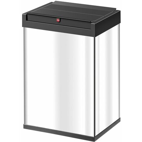 Hailo Waste Bin Big-Box Swing Size L 35 L Stainless Steel 0840-111 - Silver