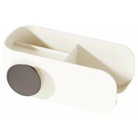 "main image of ""Hair Dryer Holder Free Punching Bathroom Toilet Storage Holder Storage Hair Stand Hair Dryer Holder (Shell Gray)"""