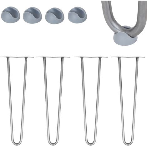 Hairpin Leg 4 pieces 25CM Steel Support leg Table foot Furniture foot Table runners Furniture leg