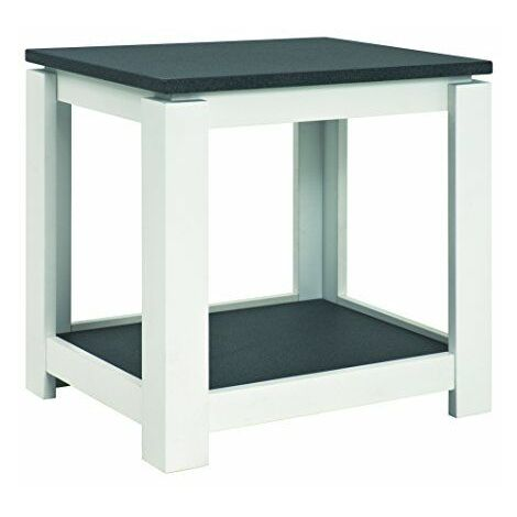 Haku Moebel 42579 Table d\'Appoint Bois MDF Optique Granit/Blanc 40 x 50 x 50 cm