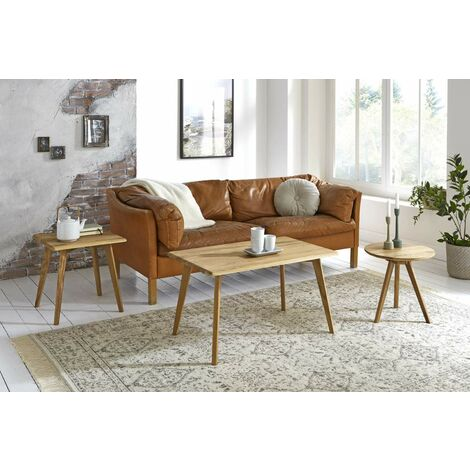 Haku Moebel Table d\'appoint, Bois Massif chêne, Ø: 40 x 40 cm