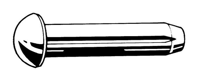 1,4x4mm 10 Stück Kerbnagel DIN 1476