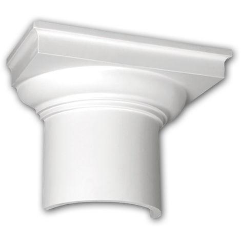 Halbsäulen Kapitell PROFHOME 115002 Säule Zierelement Dorischer Stil weiß