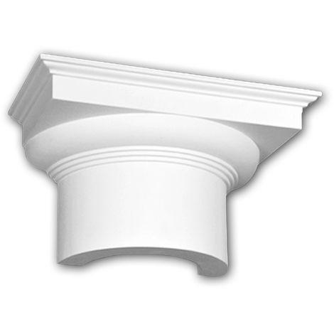 Halbsäulen Kapitell PROFHOME 115005 Säule Zierelement Dorischer Stil weiß
