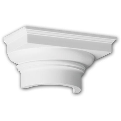 Halbsäulen Kapitell PROFHOME 115008 Säule Zierelement Dorischer Stil weiß