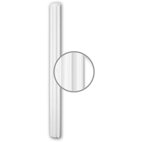 Halbsäulen Schaft PROFHOME 116010 Säule Zierelement Neo-Klassizismus-Stil weiß