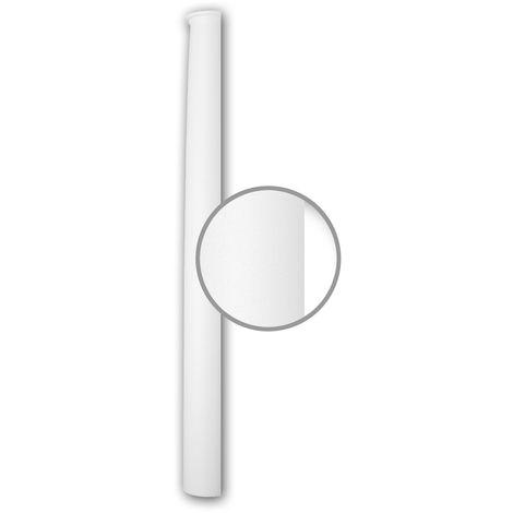 Halbsäulen Schaft PROFHOME 116020 Säule Zierelement Neo-Klassizismus-Stil weiß