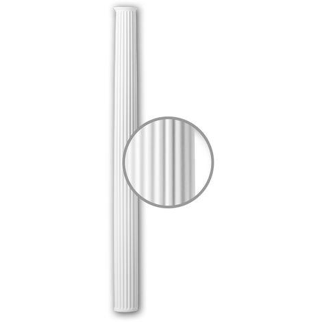 Halbsäulen Schaft PROFHOME 116080 Säule Zierelement Neo-Klassizismus-Stil weiß