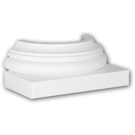 Halbsäulen Sockel PROFHOME 117500 Säule Zierelement Zeitloses Klassisches Design weiß