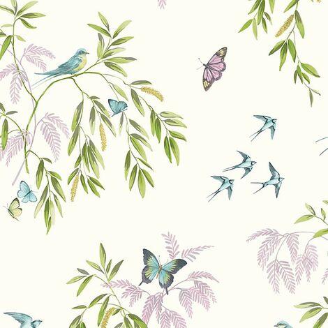 Halcyon Days Cream Multicoloured Wallpaper - Arthouse - 665700