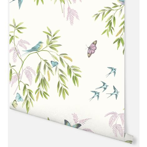 Halcyon Days Cream Multicoloured Wallpaper - Arthouse - 665700