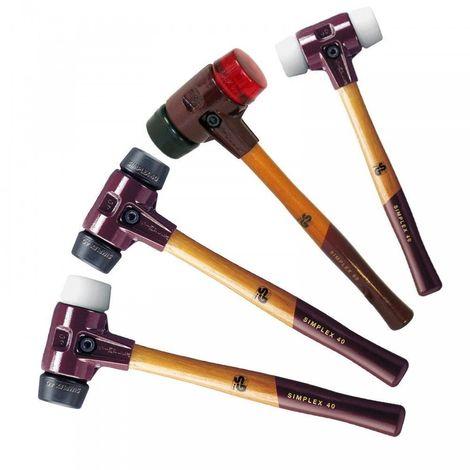 HALDER Simplex Schonhammer Nylon/Nylon, hart, 30-80mm Gummihammer NEU
