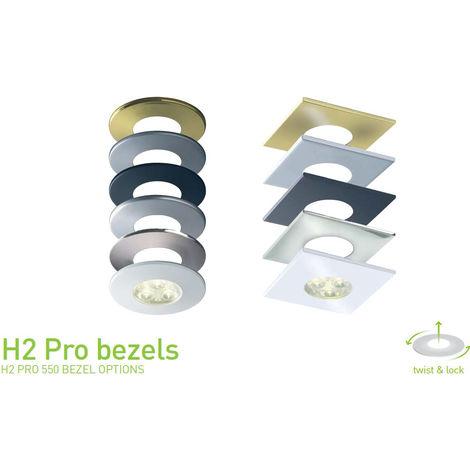 Halers H2 Pro 550 Twist Lock Round Brushed Steel Bezel (RB359BS)
