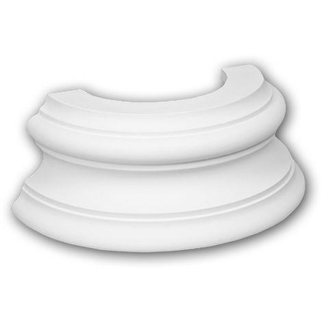 Half Column Base 117400 Profhome Column Decorative Element timeless classic design white