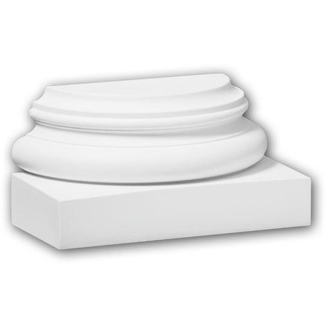 Half Column Base 117700 Profhome Column Decorative Element timeless classic design white