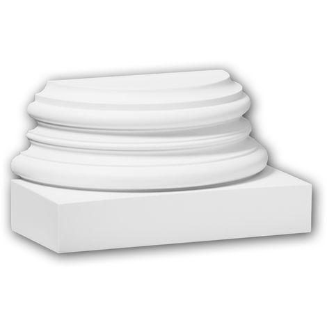 Half Column Base 117900 Profhome Column Decorative Element timeless classic design white