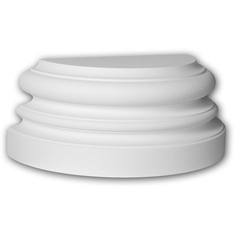 Half column base Profhome 417201 Exterior trim Column Facade element Ionic style white