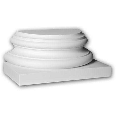 Half column base Profhome 417302 Exterior trim Column Facade element Corinthian style white