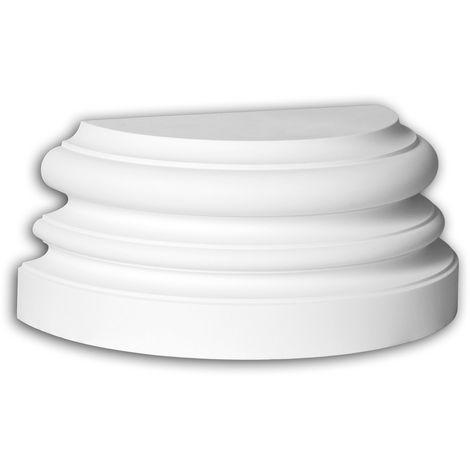 Half column base Profhome 447202 Exterior trim Column Facade element Ionic style white