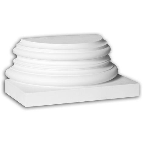 Half column base Profhome 447301 Exterior trim Column Facade element Corinthian style white
