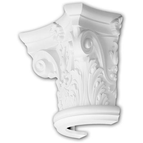 Half Column Capital 115001 Profhome Column Decorative Element Corinthian style white