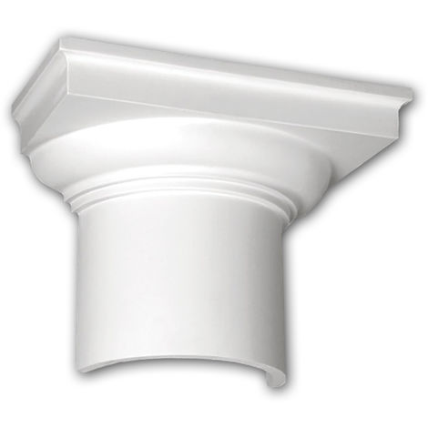 Half Column Capital 115002 Profhome Column Decorative Element Doric style white