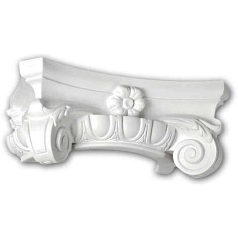 Half Column Capital 115003 Profhome Column Decorative Element Ionic style white