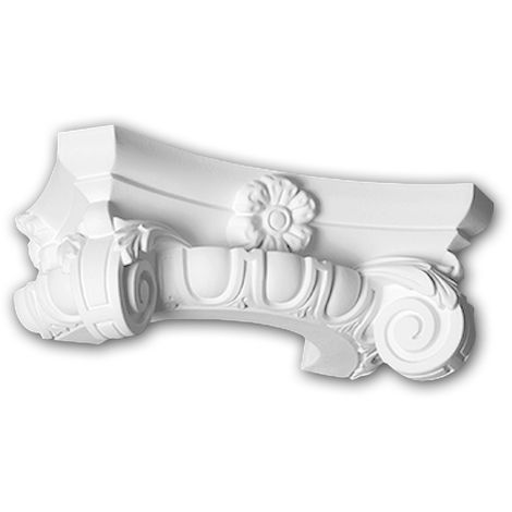 Half Column Capital 115006 Profhome Column Decorative Element Ionic style white