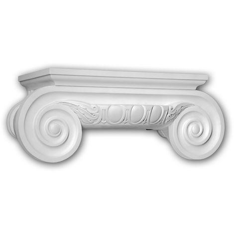 Half column capital Profhome 415201 Exterior trim Column Facade element Ionic style white