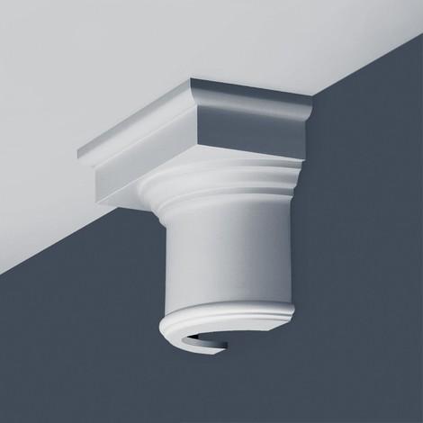 Half Column Capital Stucco Decoration Orac Decor K1111 LUXXUS made of rigid polyurethan foam impact resistant