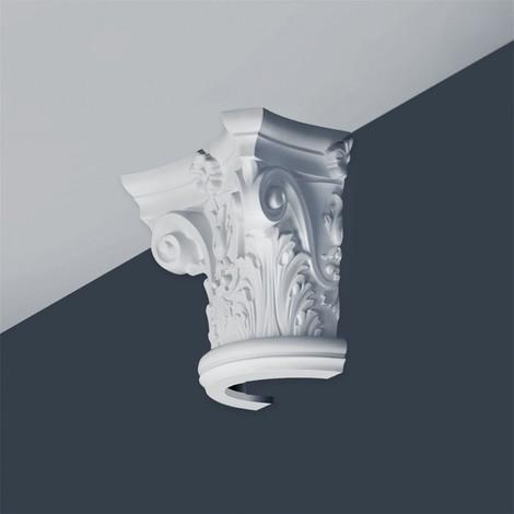 Half Column Capital Stucco Decoration Orac Decor K1121 LUXXUS made of rigid polyurethan foam impact resistant