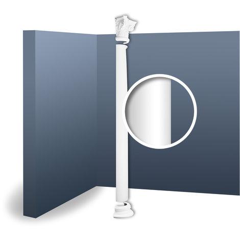 Half Column Complete Set Capital Shaft Plinth Stucco decoration Orac Decor KC1H LUXXUS classic light white 2.42 m