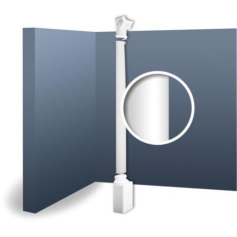 Half Column Complete Set Capital Shaft Plinth Stucco decoration Orac Decor KC2H LUXXUS classic light white 2.87 m