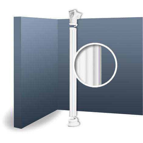 Half Column Complete Set Capital Shaft Plinth Stucco decoration Orac Decor KC3H LUXXUS classic light white 2.41 m