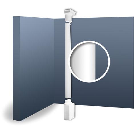 Half Column Complete Set Capital Shaft Plinth Stucco decoration Orac Decor KD2H LUXXUS classic light white 2.88 m